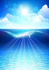 Dream sea water blue background