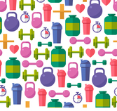 Fitness equipment background