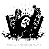 BOB MARLEY TRIBUTE VECTOR ILLUSTRATION.eps
