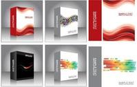 Free Vector Software Product Packing Templates