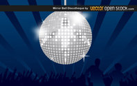 Vector Abstract Background with Disco Ball for Night Party