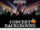 Awesome Gratis Vector Concert achtergrond