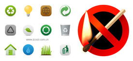 Environmental Protection And The Prohibition Of Fire Material Vector Icon
