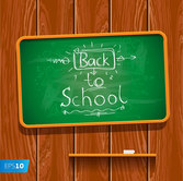 Back to School Written on Chalkboard