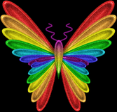 Rainbow butterfly PSD