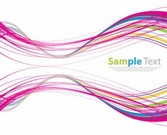 Colored Curves Abstract Background