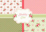 Free Vector Shabby Chic Roses Patterns
