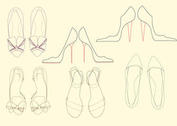 Outlined Women's Shoe Vectors