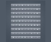 81 Fantastic 12 px Glyph Icons Pack PSD