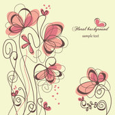 Floral hand-painted background vector-5