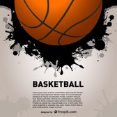 Basketball splash vector backgroud
