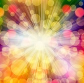Colorful Bokeh Light with Star Burst Background