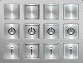 Perfect Grey Steel Web UI Buttons Vector Set