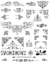 85 Free Vintage Vector Ornaments Pack