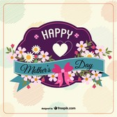 Free floral vector mother's day design