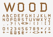 Free vector about vector wood letters
