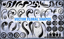 50 Vector Floral Shapes