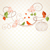 Hand drawing cute abstract floral background