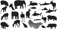 Animals Free Vector Silhouettes