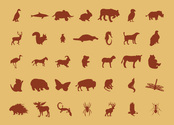 Free Vector: Animals Silhouettes