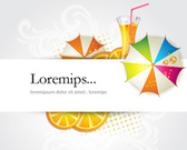 Vector Summer with Banner for Text