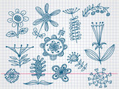 Hand Drawn Flower Doodle Vectors (Free)