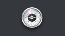 Intricate Detail Compass Icon PSD
