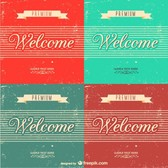 Grunge retro welcome backgrounds set