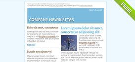 Niebieski E-mail Marketing Newsletter szablon
