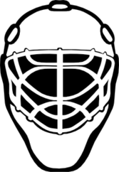 Goalie Mask Simple Outline