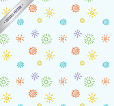Color painting sun seamless background