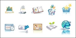 Beautiful vista style icons vector material-3