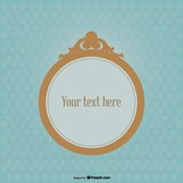Round Frame on Vintage Background Design