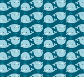 Cartoon whale background