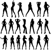 Sexy Girls Silhouettes Vector Image Free