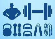 Bodybuilding Graphics Set