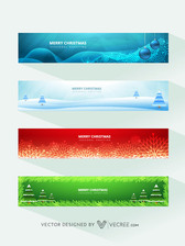 4 Beautiful Christmas Banner Templates