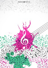 Colorfull music notes