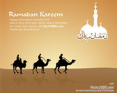 Simple Islamic greeting card for ramadan kareem