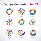 3 Sets Of Beautiful Vibrant Graphic Design