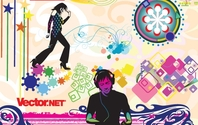 Music & Nightlife Flyer Vector Design Elements Abstract Colorful Detailed
