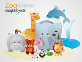Kawaii Vector animales (gratis)