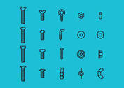 Screws And Nuts and Bolts Vector Icons