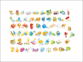 Icon Set of Various Objects