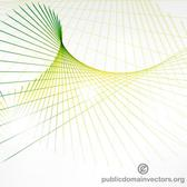 GREEN SWIRLING LINES VECTOR.eps