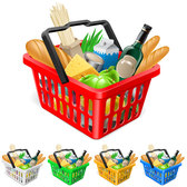 Fruits and vegetables and shopping baskets 03 - vector mater
