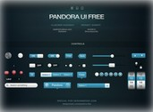 Pandora iPad/iPhone UI Elements Kit PSD