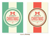 Retro Style Christmas Cards