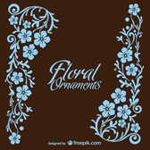 Floral style vector card