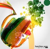 Symphony Of Dynamic Light Vector Background Material